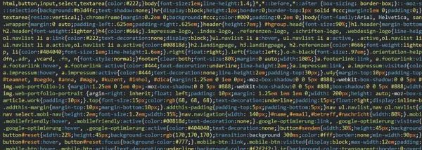 illustrative CSS-Codedarstellung