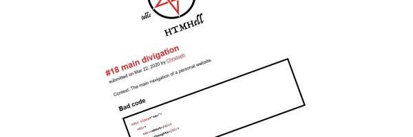 Teaserbild Gastbeitrag main divigation zur Navigation auf HTMHell